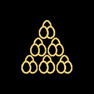 18eier-umriss-gelb