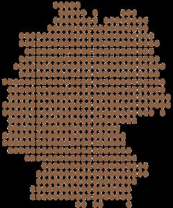 Grafik: Deutschland-Umrisskarte mit Eiern